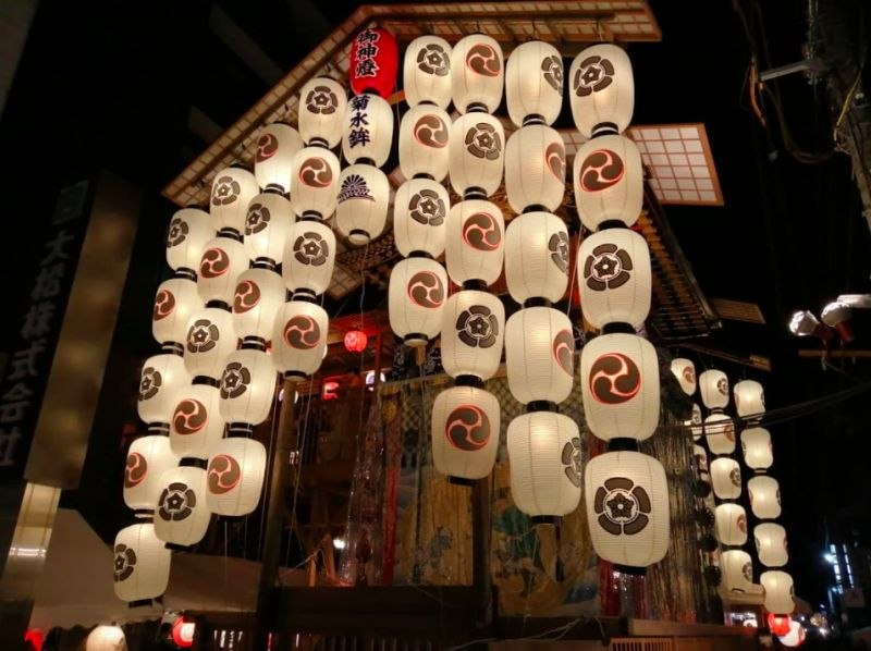 This is summer Gion festival in Kyoto.
