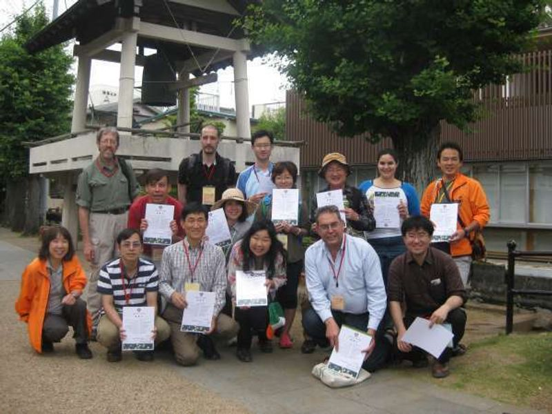 Researchers on ground water of Mt. Fuji in Mishima