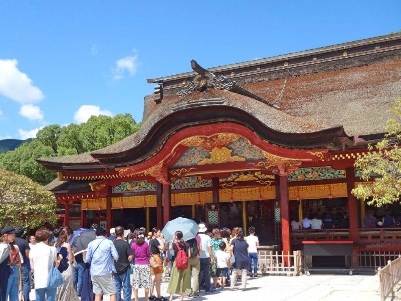 Fukuoka Dazaifu-Tenmangu un sanctuaire shintoïste. Un mosolée d'un personnage populaire au 8e siècle, la divinité des études.