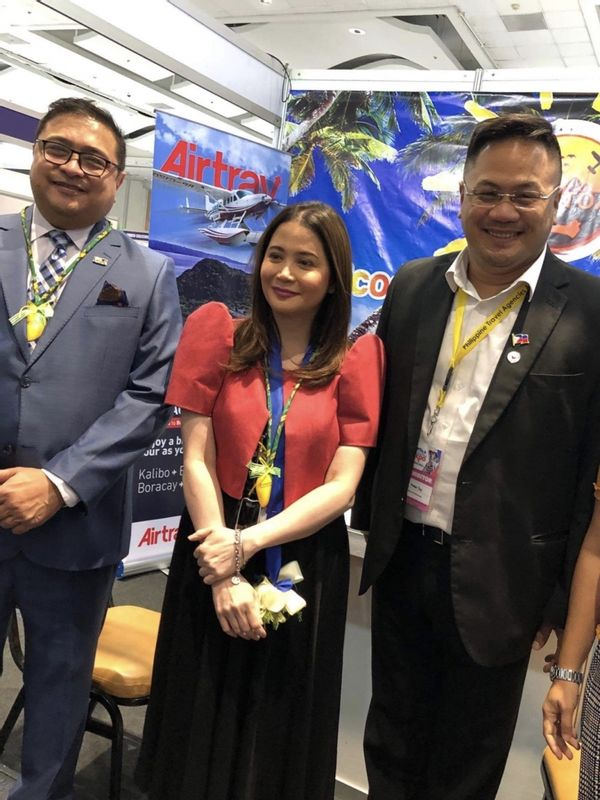 With The Secretary of Tourism & President of Philippine Travel Agencies Association