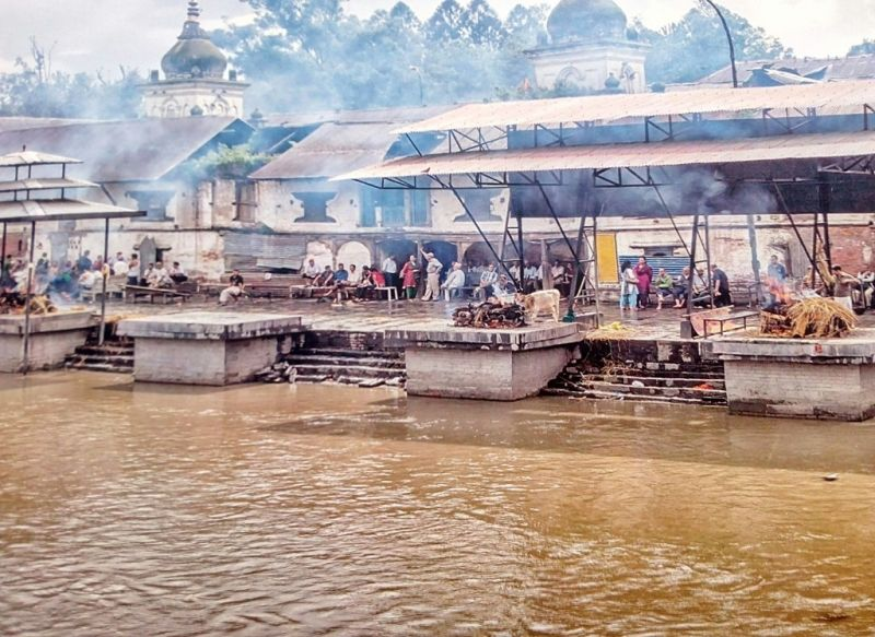 Cremation ground near Pashupatinath, the Hindu temple for Lord Shiva.