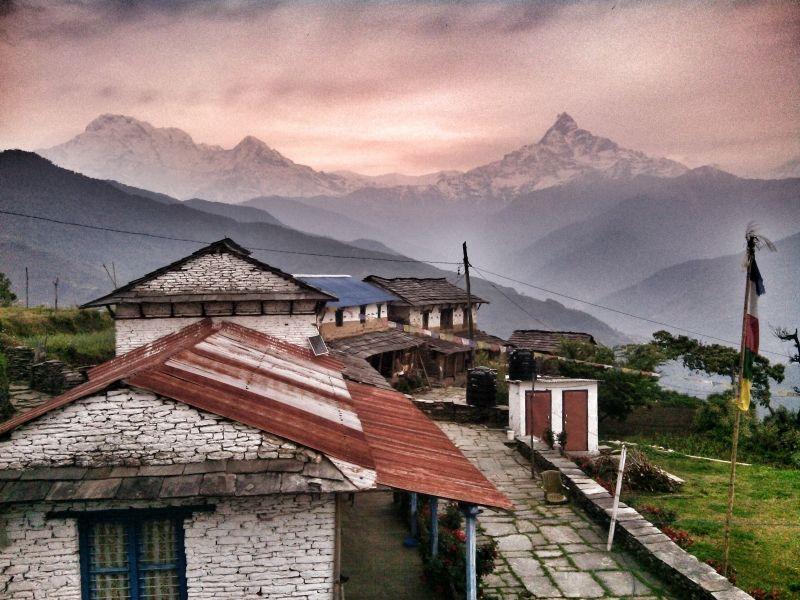 Gurung village at Dhampus near Pokhara.