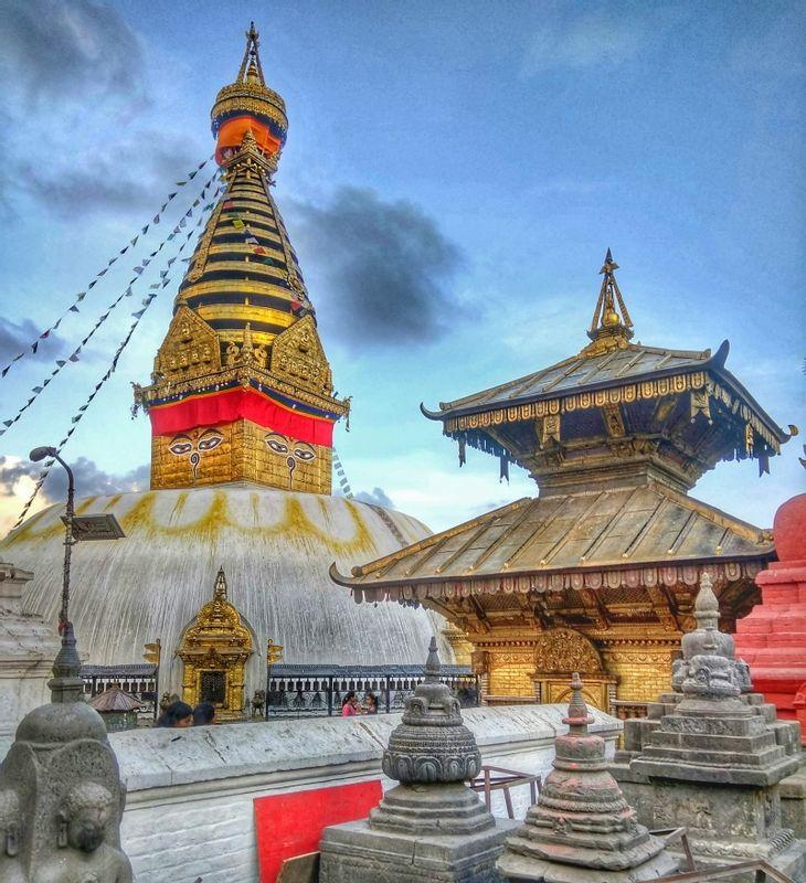 Swayambhunath Buddhist Stupa which is also popularly known as