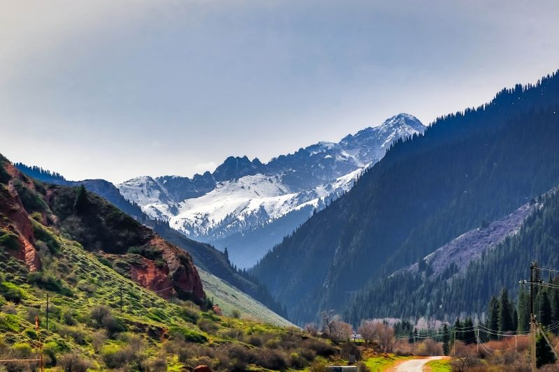 Djety-Oguz gorge. Fascinating place for trekking. One of the main places to do trekking in Kyrgyzstan. The photo that was taken by one of my good tourist Bhaskar Maitra from India