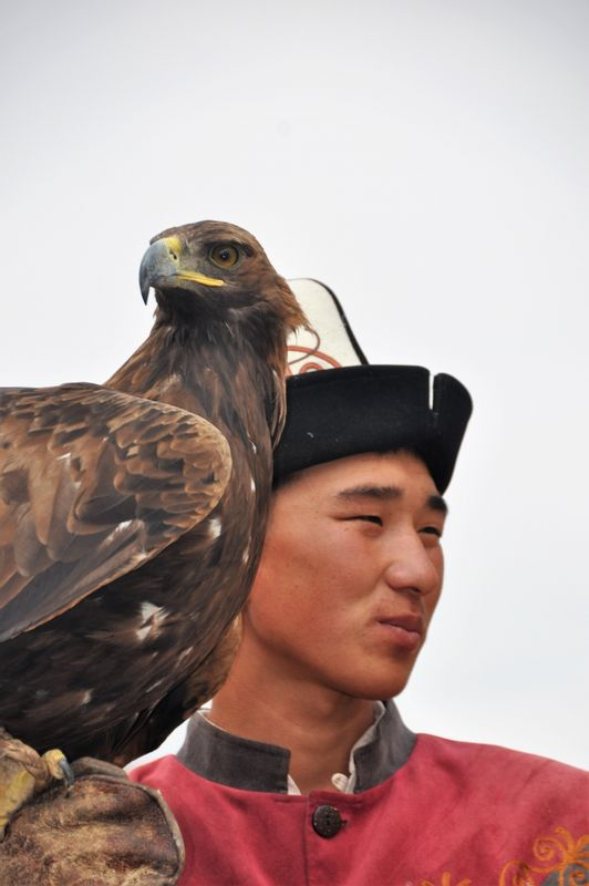 Eagle is an important bird for Kyrgyz people. Kyrgyz people mainly use the eagle for eagle-hunting. So, it means they hunt for foxes and wolves with eagles. And in Kyrgyzstan, not every person can be eagle-hunter. Eagle - hunter can become a person that father or grandfather is an eagle-hunter.