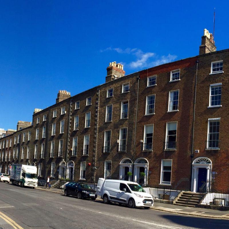 Georgian Dublin 旧市街地 ジョージアンダブリンと呼ばれる