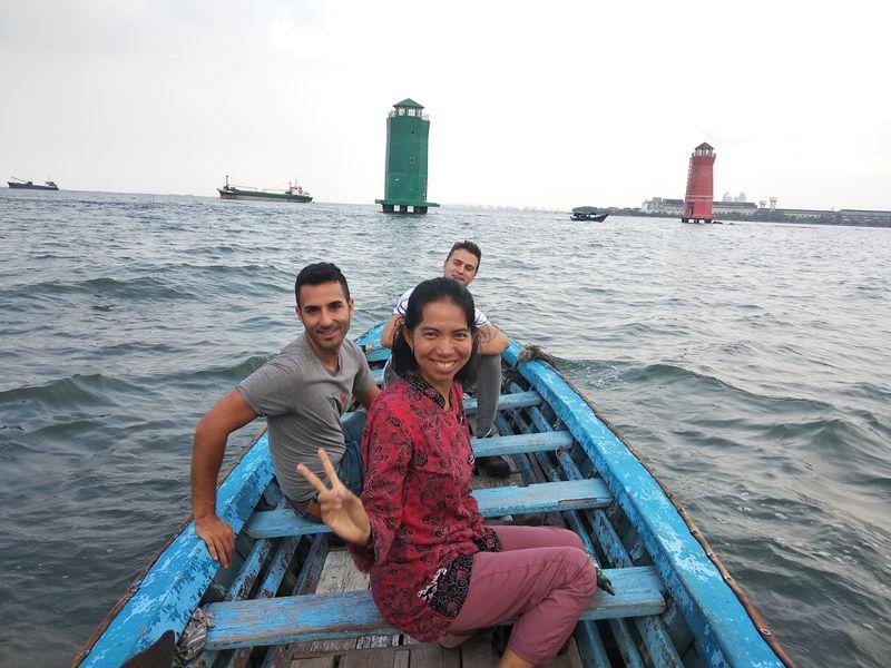 Boating at Sunda kelapa harbour
