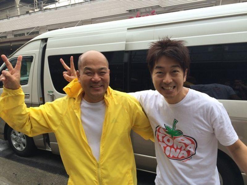 Yuji and Hashimoto working together for TV program.