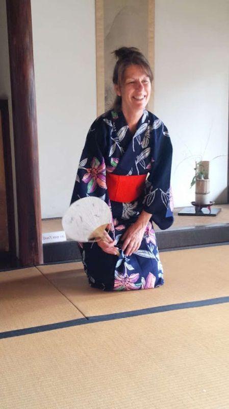 A Japanese Kimono, in Kurashiki in 2016.