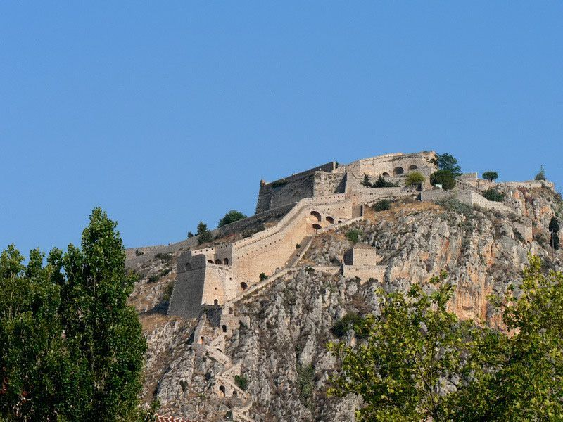 fortress & churches of Byzantine town Mystras