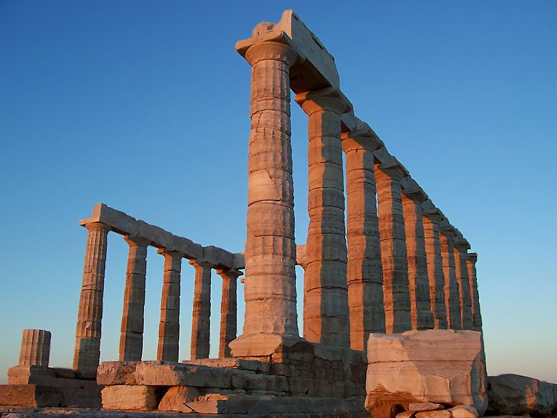 Posseidon temple, Sounion archeological site, Athens