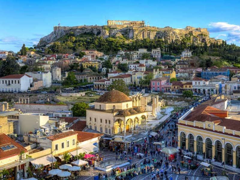 Plaka historical center Athens