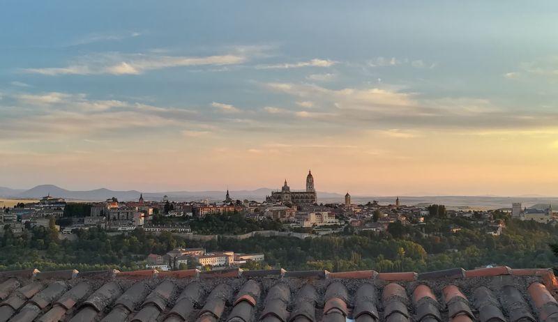 The sunset in Segovia