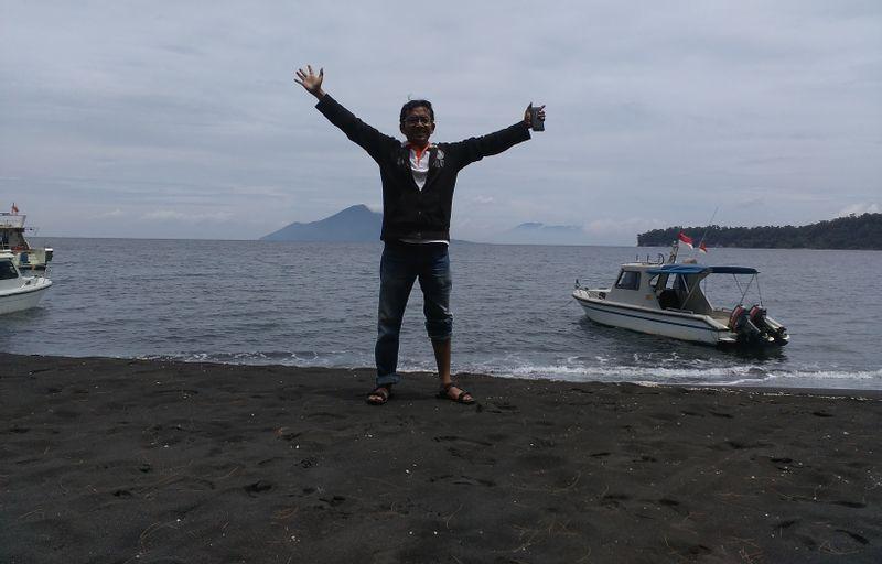 Me at the son of Krakatau volcanoe