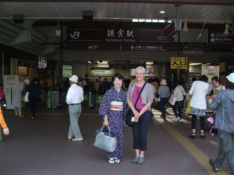 At Kamakura station before saying good-bye