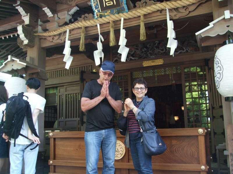 The sacred rope was impressive at Hetsunomiya.