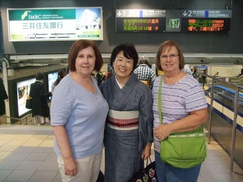 Before saying good-bye at Kamakura station