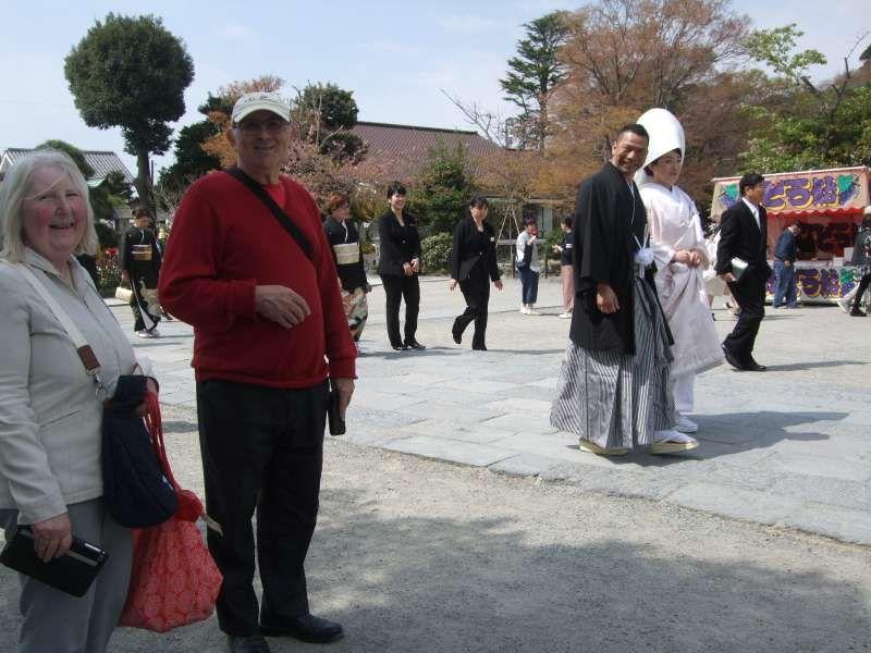Good timing at Tsurugaoka Hachiman Shrine