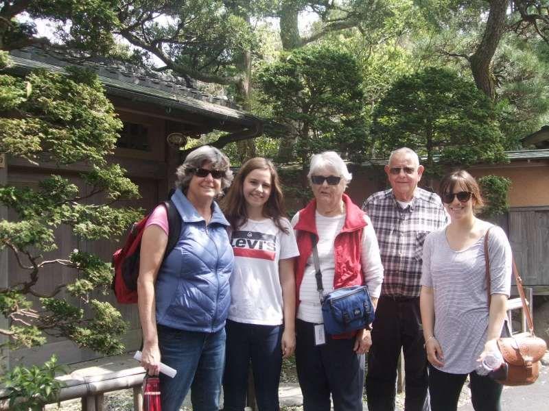 At the gate of Hokokuji temple