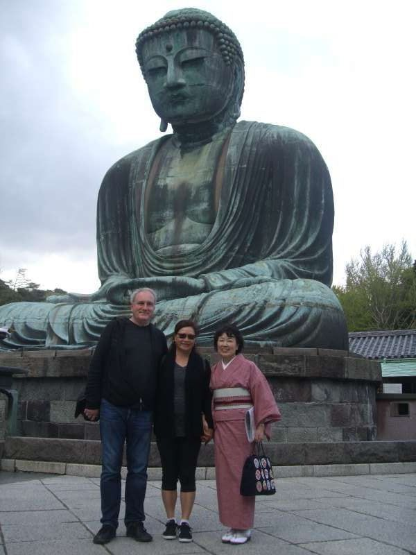 Three of us with Great Buddha
