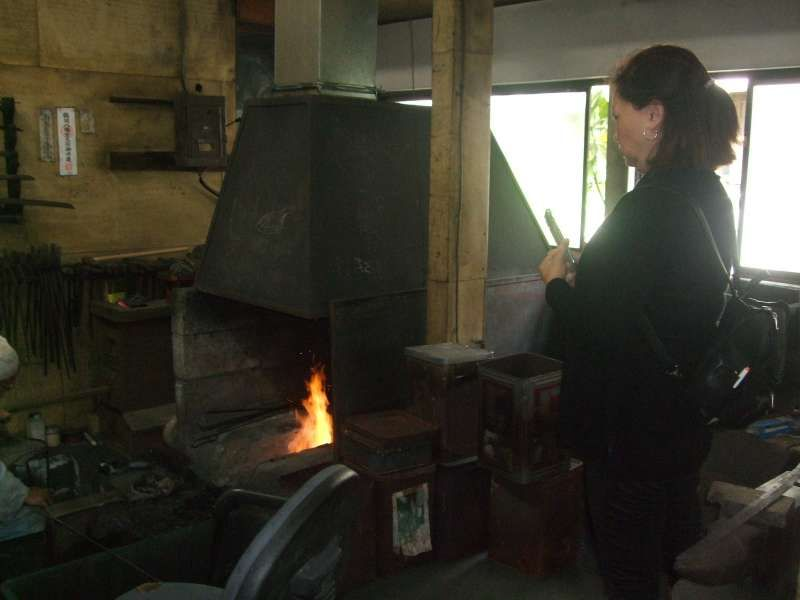 So lucky we could see the sword making in the smithy at Masamune Sword and Blade Workshop