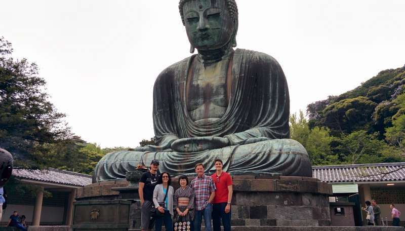 Five of us with Great Buddha