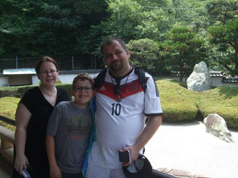 At a beautiful stone garden in Komyoji Temple
