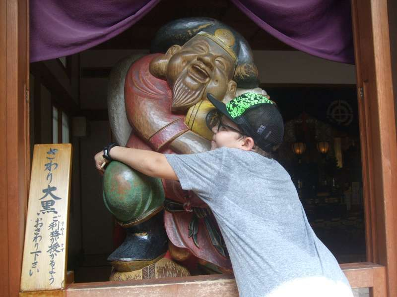 Daikoku-ten brings him a lot of good luck!