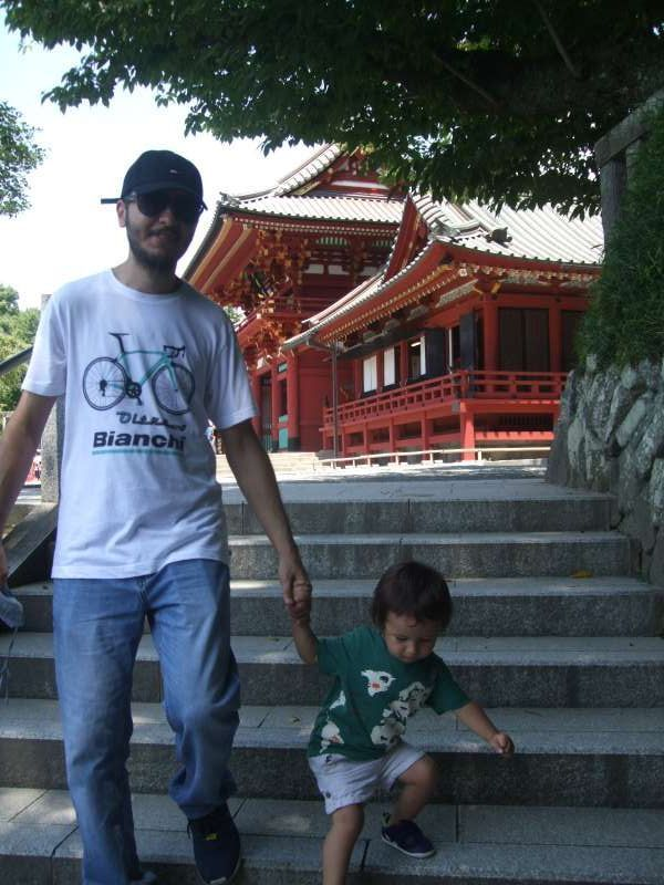 On our way down from the main hall of Tsurugaoka Hachiman Shrine