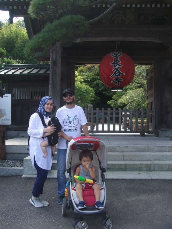 In front of Hase Temple, the second oldest temple in Kamakura