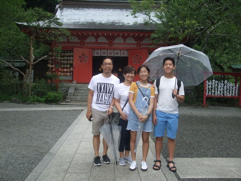 After praying to the god of learning at Egara Tenjin Shrine