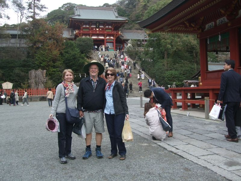 After visiting the main hall of Hachiman Shrine