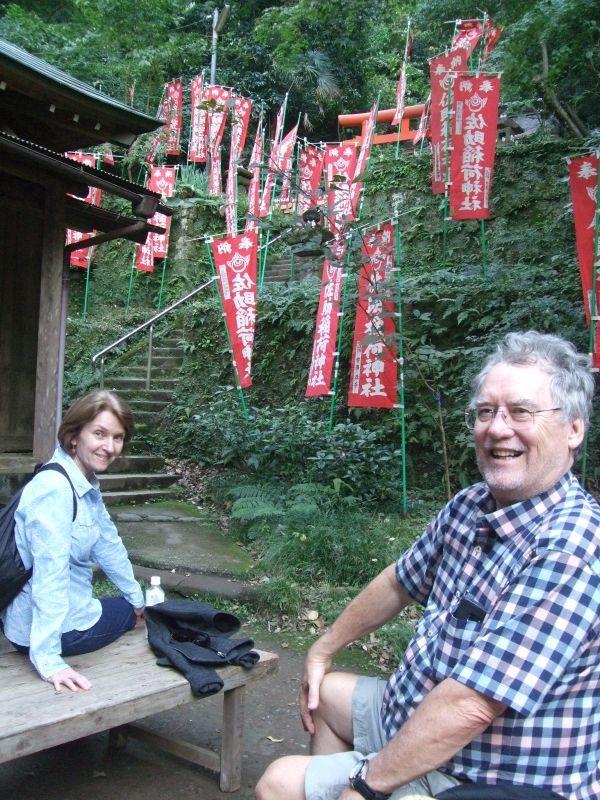 Deep into the hillside of Kamakura at Sasuke Inari Shrine
