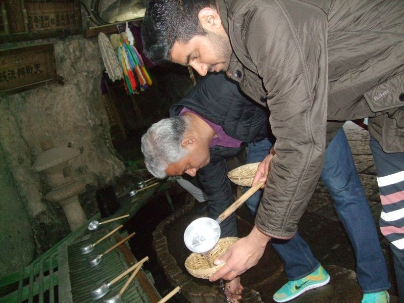 At Zeni-arai (money-washing) Benten.