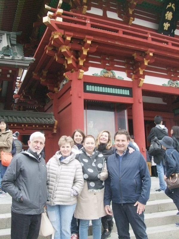 After praying in Shinto style at Tsurugaoka Hachiman Shrine