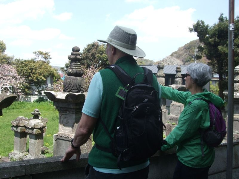 By the graveyard of Naito family, the huge gravestones were overwhelming.