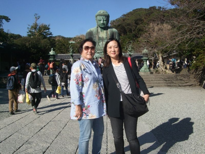 Such a beautiful afternoon with Great Buddha and the blue sky in the back
