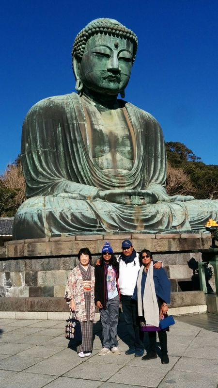 Blue sky, Great Buddha and us all