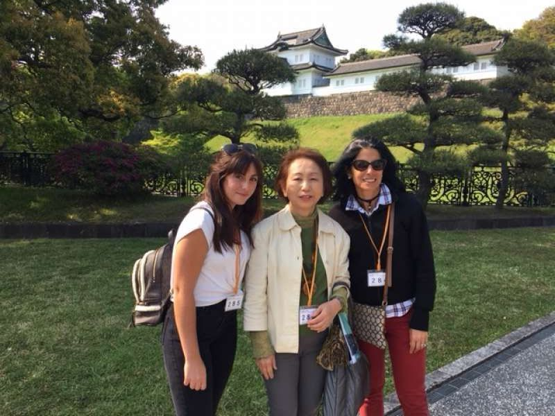 A lovely family from U.S.A. at Imperial Palace inside, April 2018
