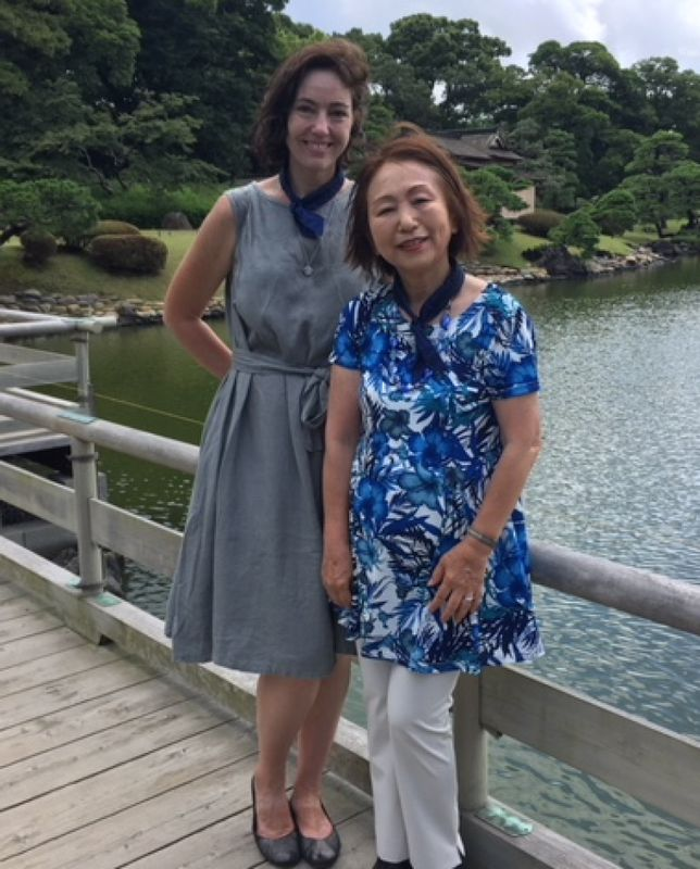 A lovely guest from U.S.A, at Hamarikyu, July 2018