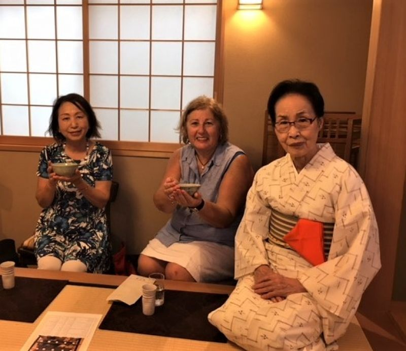 A lovely guest from Australia at Yanaka, Aug. 2018