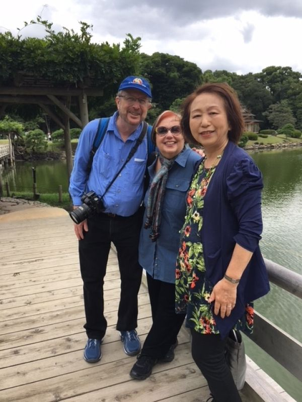 A lovely couple from Australia, at Hamarikyu,  Sept. 2018