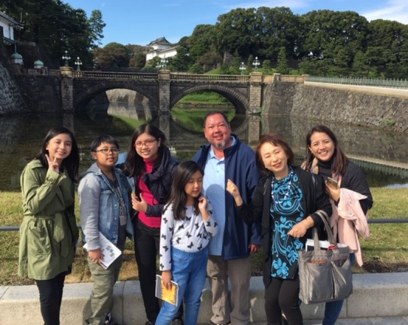 A lovely guest family from Philippines at Imperial Palace, Oct. 2018
