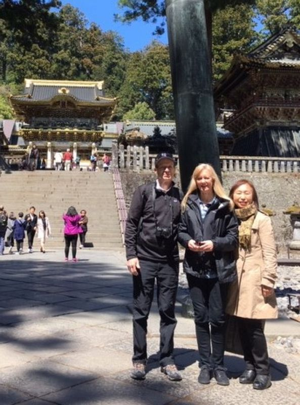 A wonderful couple from Texas, U.S.A., at Nikko, April 2019