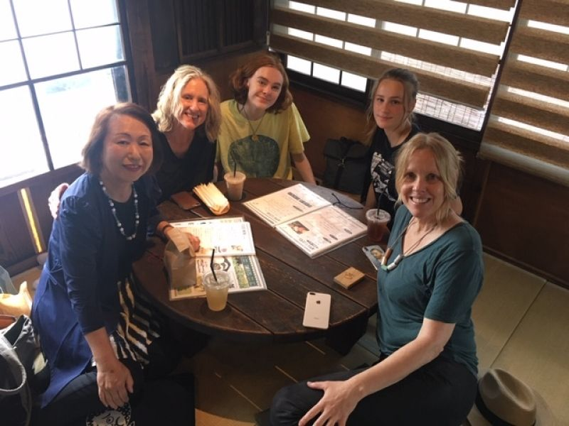 A wonderful friend group from California, U.S.A. at Yanaka restaurant, June 2-19