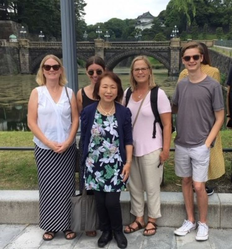 Nice family friends from Seatle, U.S.A. at Imperial Palace, June 2019