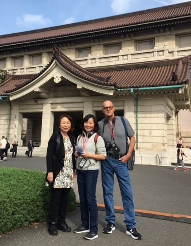 A wonderful couple from Vancouver, Canada, at Tokyo National Museum in Oct. 2019