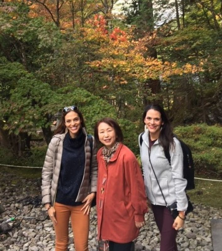 Wonderful ladies from Atlanta, Georgia, at Taiyuin Temple in Nikko, Nov. 2019