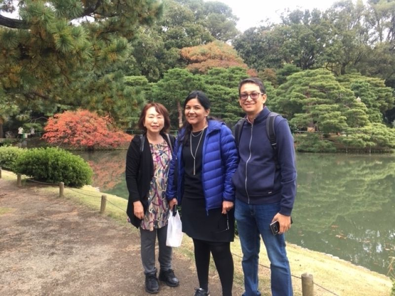 A wonderful couple from Singapore.  Enjoyed leaf-coloring in Rikugien Garden, Nov. 2019