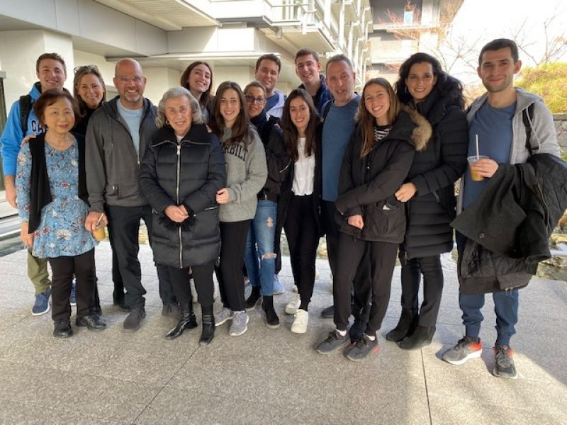 A wonderful big family from Newark, U.S.A. We travelled from Tokyo, Hakone to Kyoto.,Dec. 2019